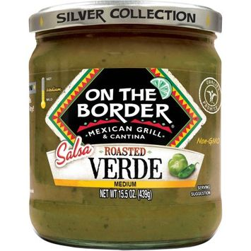 On The Border Medium Roasted Salsa Verde, 15.5 oz