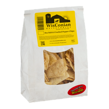 WisConian Delectables Sea Salt & Cracked Pepper Chips