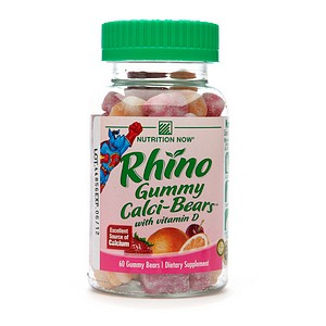 Nutrition Now Rhino Gummy Calci-Bears with Vitamin D