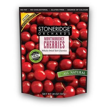 Stoneridge Orchards Whole Dried Tart Montmorency Cherries, 20-Ounce Pouches (Pack of 2)