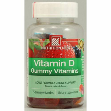Nutrition Now Vitamin D Gummy Vitamins 75 Gummies