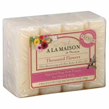 A La Maison Bar Soap Thousand Flowers Value 4 Pack