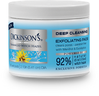 DICKINSON'S® Enhanced Witch Hazel  Deep Cleansing Astringent Rounds