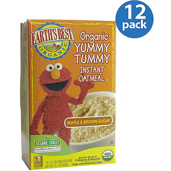 Earth's Best Yummy Tummy Maple & Brown Sugar Instant Oatmeal