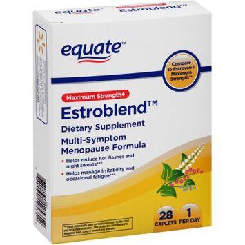 Equate Estroblend Multi-Symptom Menopause Formula Dietary Supplement Caplets, 28 count