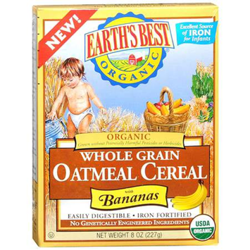 Earth's Best Organic Whole Grain Oatmeal with Bananas