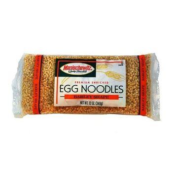 MANISCHEWITZ Barley Egg Noodles, 12-Ounce Bags (Pack of 12)