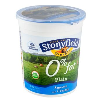Stonyfield Organic 0% Fat Yogurt Plain