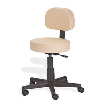 Earthlite Mid-Back Height Adjustable Rolling Drafting Chair Finish: White