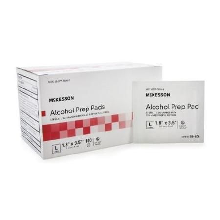 Dynarex ALCOHOL PREP PAD 70% ISOPROPYL ALCOHOL PAD STERILE 200 ALCOHOL PADS - MS60110