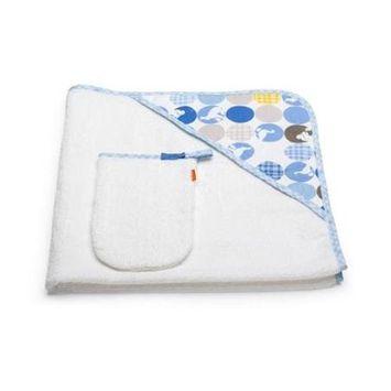Stokke Care Hooded Towel In Silhouette Blue