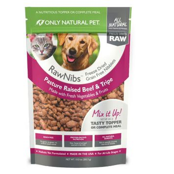 Only Natural Pet RawNibs Freeze Dried Beef 10 oz