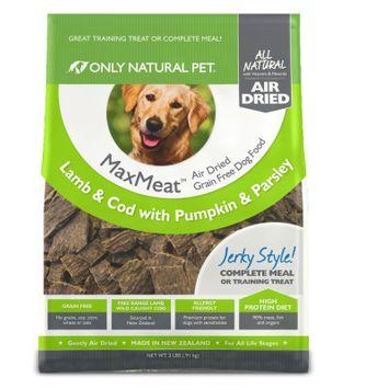 Only Natural Pet MaxMeat Dog Food - Grain Free, Air Dried, Lamb Cod