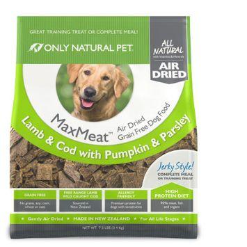 Only Natural Pet MaxMeat Air Dried Dog Lamb & Cod 7.5 lbs