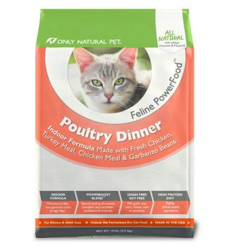 Only Natural Pet Feline PowerFood Poultry Dinner Dry Food