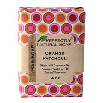 Orange Patchouli All Natural Handmade Bar Soap, 4 oz