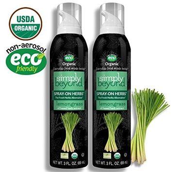 Simply Beyond, Organic Spray-On Herbs, Lemongrass, 3 Fl. Oz. (Lemongrass, 2 Pack)