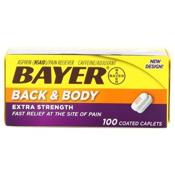 Bayer Extra Strength Back & Body Caplets 500mg, 100-Count Caplets Personal Healthcare / Health Care