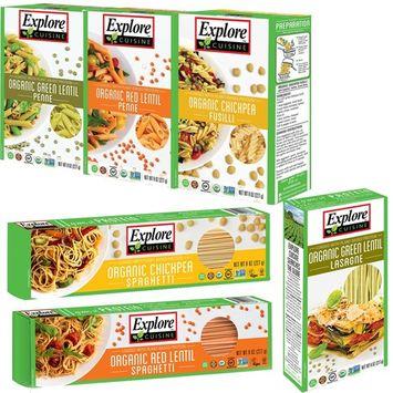 Explore Cuisine Pulse Pasta USDA Organic Certified Kosher Variety Pack 8oz - 6 pack [Variety 6 Pack]