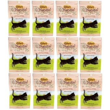 Zukes Natural Purrz Healthy Moist Treats Cat Salmon 2.2lb (12x3oz)