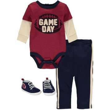 Bon Bebe Baby Boys 0-9 Months Football Shoe Pant Set