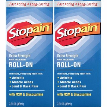 Stopain Extra Strength Pain Relief Roll-On 3 Ounce (2 Count) Relieves Muscle and Joint Pain