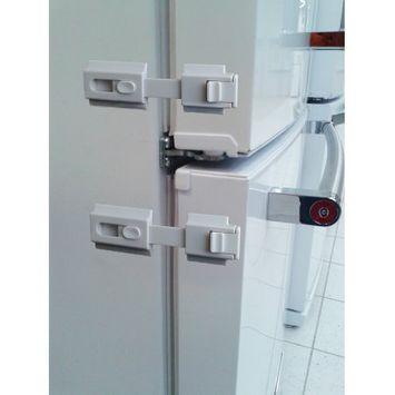 Door Guardian The Guardian Refrigerator Lock-White