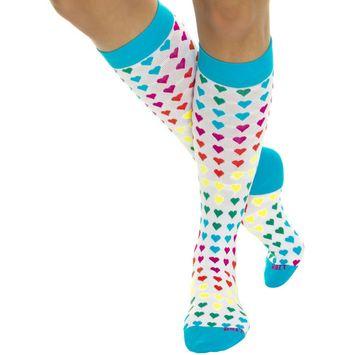 LISH Nurse Compression Socks for Women - Graduated 15-25mmHG - Sports Socks