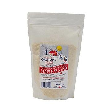 Canadian Organic Maple - 17.6 oz (500g) Organic Granulated Maple Sugar
