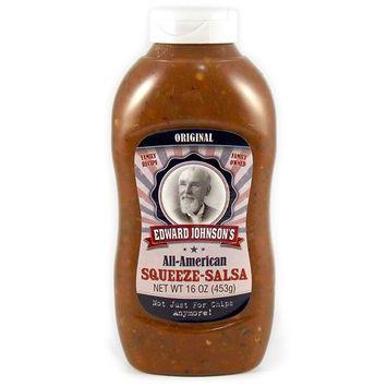 Edward Johnson's Squeeze Salsa, Original, 16 oz (1 Pack: One 16 oz Bottle)