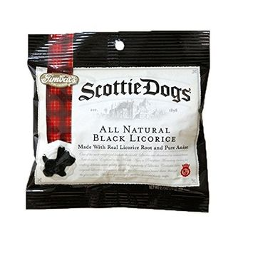 Gimbal's Black Scottie Dog Licorice Peg Bag - 12 Pack - Soft Scottie Dog Shaped Licorice - Natural Flavors - 2.7 oz Bags