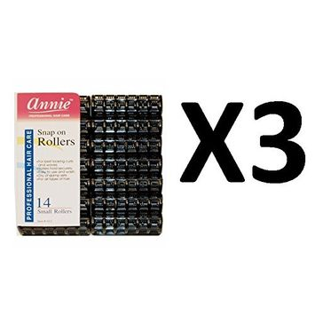 [ VALUE PACK OF 3 ] ANNIE #1011 BLACK SNAP ROLLER SIZE SMALL (14CT/PACK) : Beauty