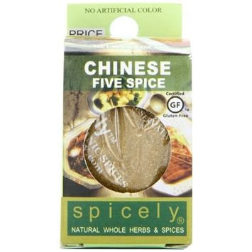 Spicely Organic Seasoning, Spice, Chinese Five, 0.5 Ounce