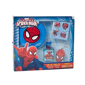 Spiderman Gift Set with Eau De Toilette Spray, Frisbee and Key Ring by Marvel
