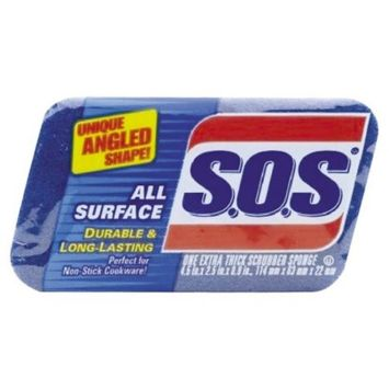 Clorox S.O.S 91017 All Surface Scrubber Sponge