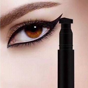 Winged Eyeliner Stamp & Waterproof Moulding Makeup Cosmetic Black Liquid Eye Liner