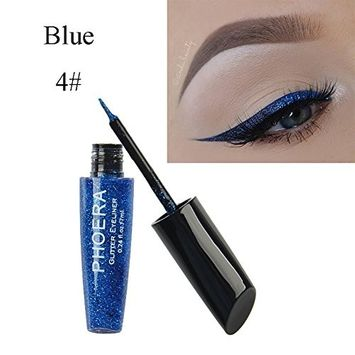 Gotoole PHOERA Shimmering Paillette Liquid Eyeliner Shiny Eye Makeup Women Beauty Tool size 4#