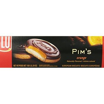 Lu Pim's Orange European Biscuit Cookies, 5.29 Ounce (Pack of 6)