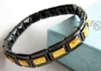 Ebay Error ELECTRIFIED FEEL BETTER EJCN-008A Titanium Steel Bracelet w 20 Germanium Stones