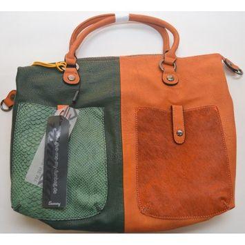 Bag, Maestro, 42cm, sherry / green
