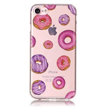 UCLL iphone 7 Plus Case , Cute Donuts Printing Case for Iphone7 plus iPhone 7 plus Shockproof Case with a Screen Protector