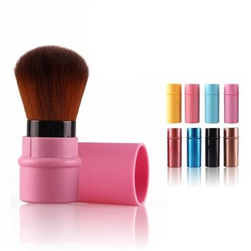 Retractable Brush Makeup, Molie Blush Foundation Face Powder Cosmetic Makeup Brush (8 Colors Available)