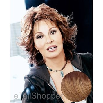 Raquel Welch Breeze, Short Textured Layers With A Feathered Bob Style Hair Wig For Women, ss14/25 Shadow Shade Honey Ginger by Hairuwear