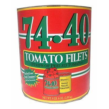 Stanislaus, 74-40 Tomato Filets (Strips of Peeled Tomatoes), 102 oz