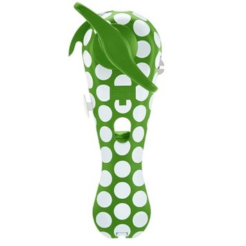 Kuhn Rikon Ultimate 5-in-1 Auto Safety Lid Lifter Can Opener, Polka Dot Olive