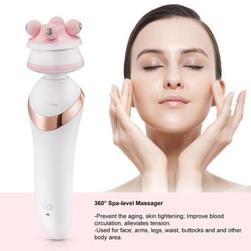 3in1 Face Cleansing Brush Massager Top Quality White