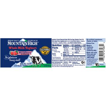 Mountain High™ Strawberry Whole Milk Yoghurt
