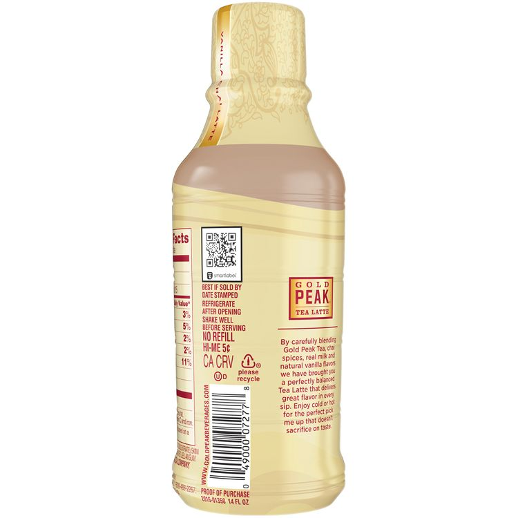 Gold Peak® Vanilla Chai Latte Tea With Milk Reviews 2020