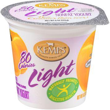 Kemps® Light Peach Nonfat Yogurt