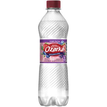OZARKA Sparkling Natural Spring Water Triple Berry 0.5L Bottle
